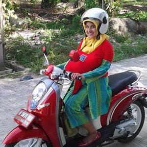 gendongan bayi yang aman untuk naik motor